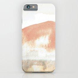 Terra Cotta Hills Abstract Desert Mountain Landsape with Watercolor iPhone Case