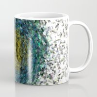 geode Mugs featuring Geode Abstract 01 by Charma Rose
