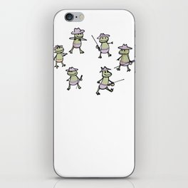 Lots of Finias Frogs iPhone Skin