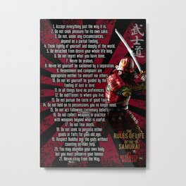 Rules of Life of the Samurai, by Miyamoto Musashi, iaido, kenjutsu Metal Print
