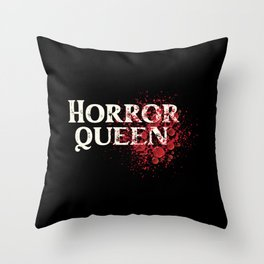 Scary Movie Horror Queen Blood Throw Pillow