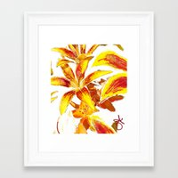 lily Framed Art Prints featuring Lily by ANoelleJay