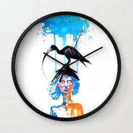 Bird on My Head Wall Clock