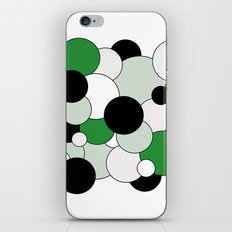 Bubbles - green, black, gray and white iPhone & iPod Skin