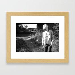 Girl Under Freeway Framed Art Print