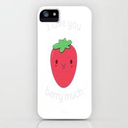 Cute Strawberry Pun iPhone Case