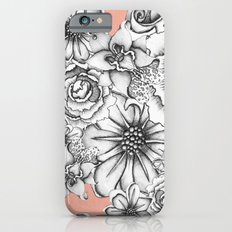 B&W Flowers Coral iPhone 6s Slim Case