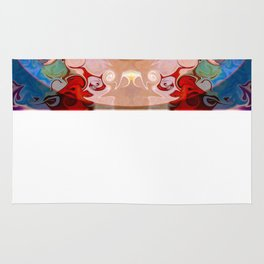 Drenched In Awareness Abstract Healing Artwork Rug
