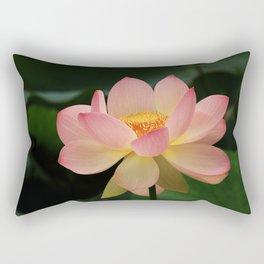 Peaceful Zen Garden Pink Lotus Floral Rectangular Pillow