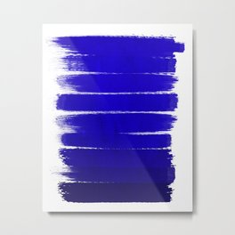 Shel - abstract painting painterly brushstrokes indigo blue bright happy paint abstract minimal mode Metal Print
