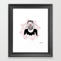 You close my eyes Framed Art Print