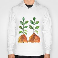succulents Hoodies featuring Succulents by Gosia&Helena