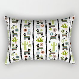 Burro Feliz Rectangular Pillow