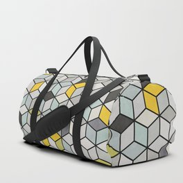 Colorful Concrete Cubes - Yellow, Blue, Grey Duffle Bag
