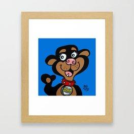 Jemma BLUE Framed Art Print