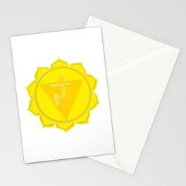 Manipura Chakra Solar Plexus chakra Yoga Stationery Cards