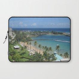 Beach at Caribe Hilton, San Juan, Puerto Rico, before Maria Laptop Sleeve