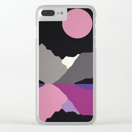 Moonlight On Lake Tanya Clear iPhone Case