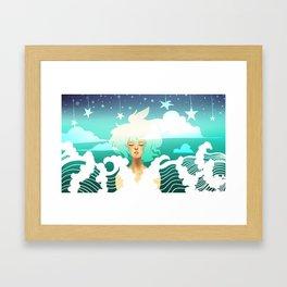 Be Fluid Framed Art Print