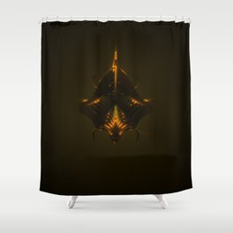 King Dark CatFish Shower Curtain