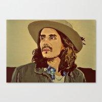 john mayer Canvas Prints featuring John Mayer by Tess Brierley