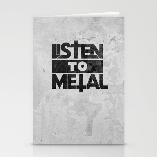 Listen to Metal Stationery Cards