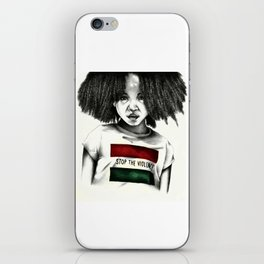 Stop the Violence iPhone Skin
