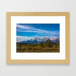 Teton Mountains Framed Art Print
