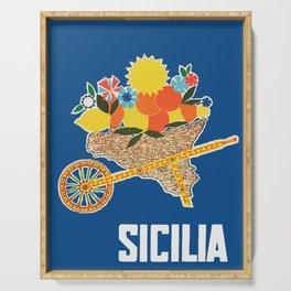 Sicilia - Sicily Italy Vintage Travel Serving Tray