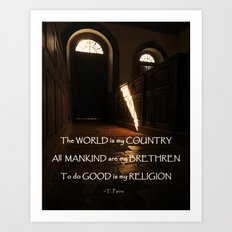Church of Humanity Inspirational Art Print