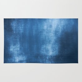 Abstract blue texture Rug