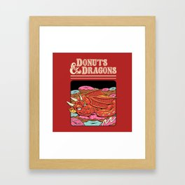 Donuts and Dragons Framed Art Print