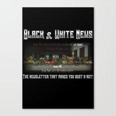 The Black & White Last Supper Canvas Print