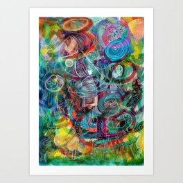 Angel Street Art Graffiti Joyful Colorful Message of Hope Art Print