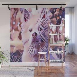 The White Finnish Lapphund Wall Mural