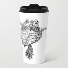 Chelonioidea (the turtle) Metal Travel Mug