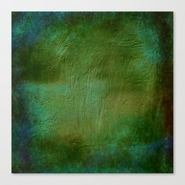 Shades of Deep Green Texture Canvas Print