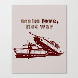 Make love, not war! Canvas Print