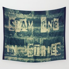 Slam 1 Industries Ransom Note Blue Tone Wall Tapestry