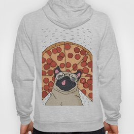 Funny Pug Pizza Hoody