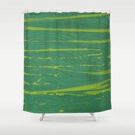 Yellow-Green Zebra Shower Curtain