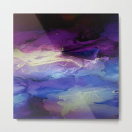 Pour your art out in lilac Metal Print