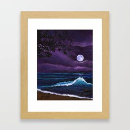 Romantic Kauai Moonlight Framed Art Print