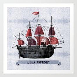 A Sea Journey #1 Art Print