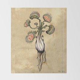 Venus Flytrap Throw Blanket