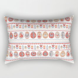 Easter Eggs with Animals and Birds. Rectangular Pillow