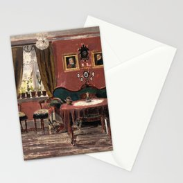 Edvard Munch - The Living-Room of the Misses Munch in Pilestredet 61 Stationery Cards