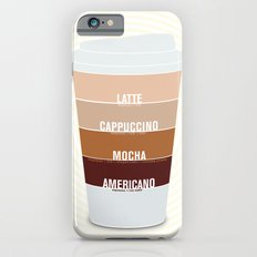 four shades of coffee + ingredients Slim Case iPhone 6s