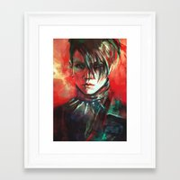 dragon Framed Art Prints featuring Dragon by Alice X. Zhang