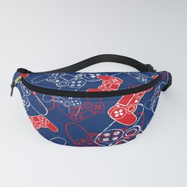 Video Games Red White & Blue 2 Fanny Pack